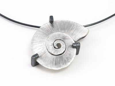 Silver Pendant Spiral Shell
